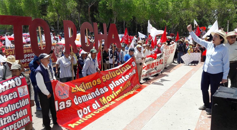 Amenaza Antorcha con nueva marcha en Toluca
