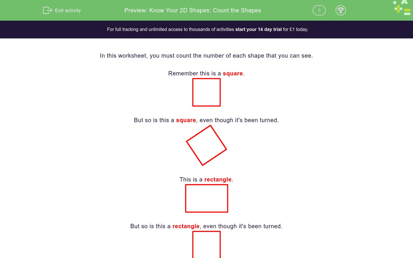 Know Your 2d Shapes Count The Shapes Worksheet