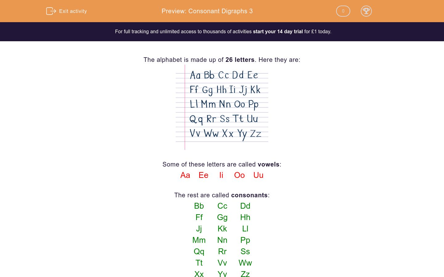 Consonant Digraphs 3 Worksheet