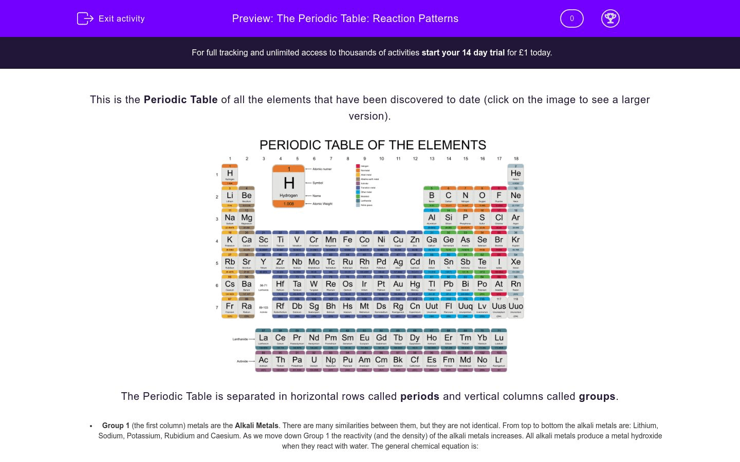 Worksheet Introduction To The Periodic Table Answer Key 4
