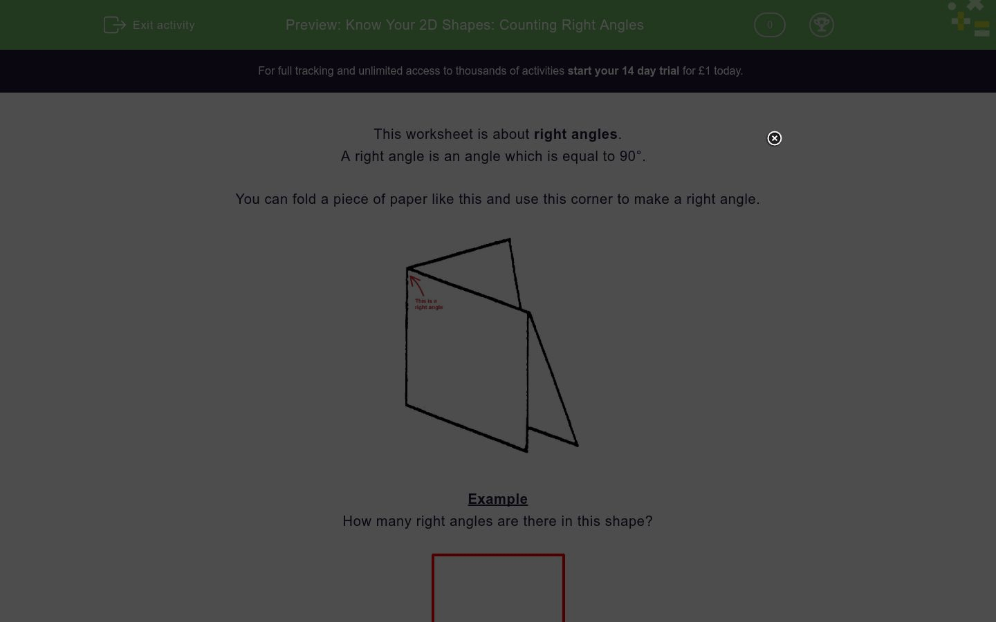 Right Angles Worksheet Year 2