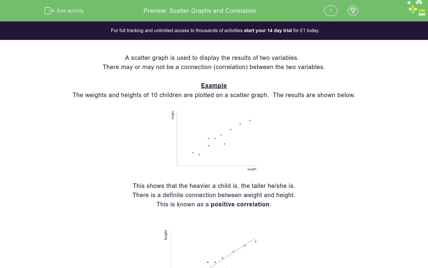 Scatter Graphs And Correlation Worksheet