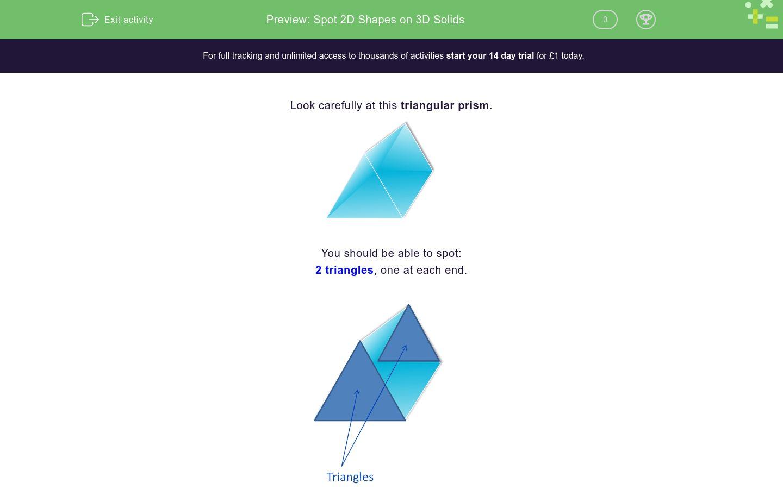 Spot 2d Shapes On 3d Solids Worksheet
