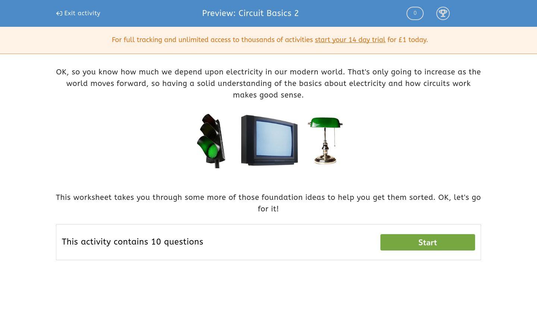 Circuit Basics 2 Worksheet