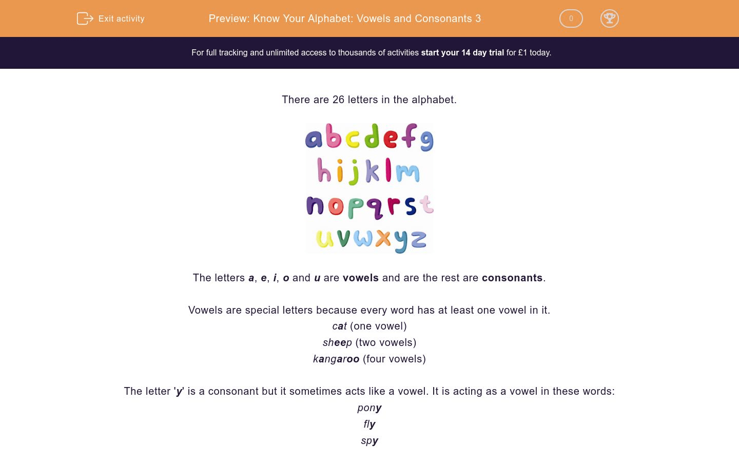Know Your Alphabet Vowels And Consonants 3 Worksheet
