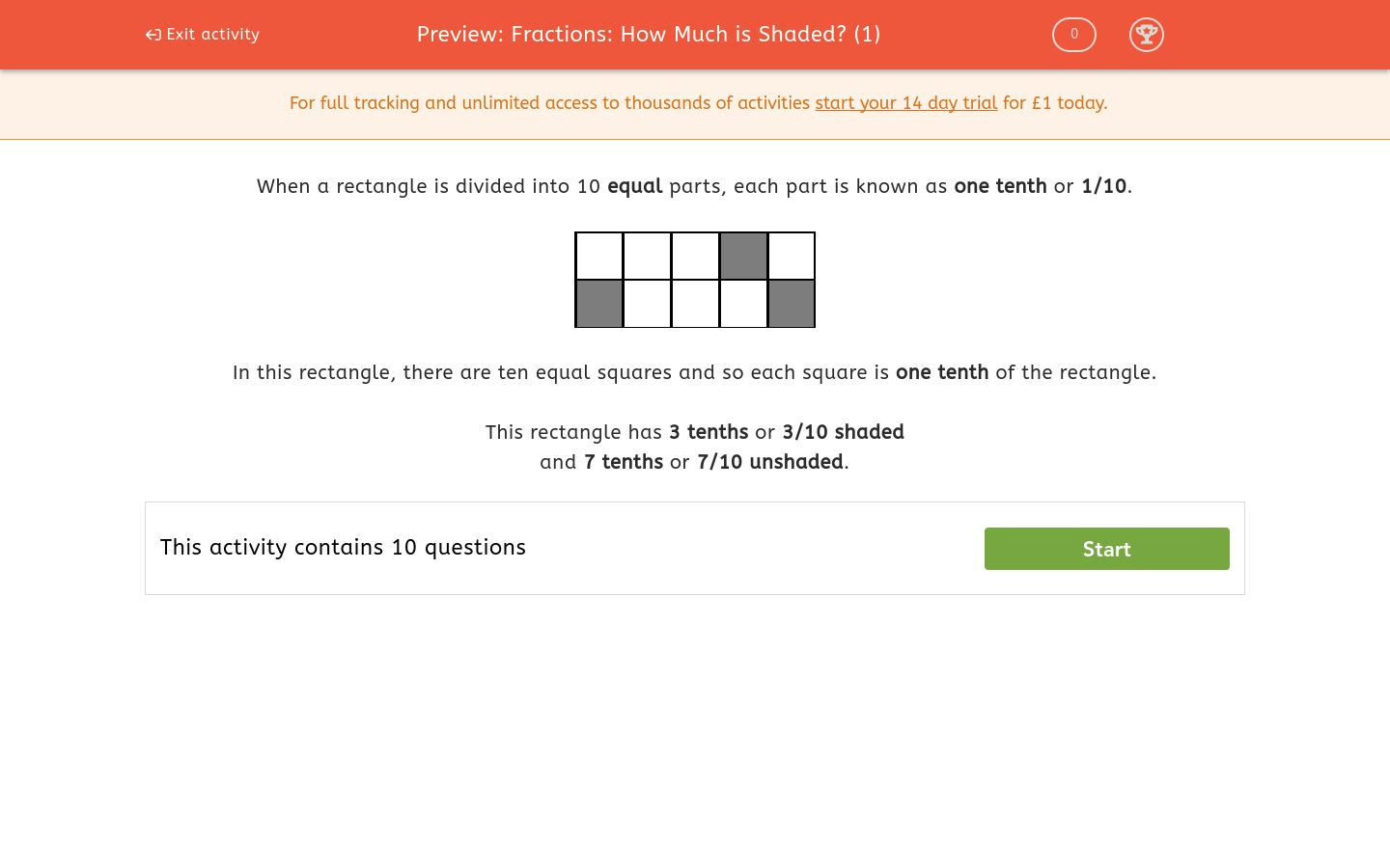 Fractions How Much Is Shaded 1 Worksheet