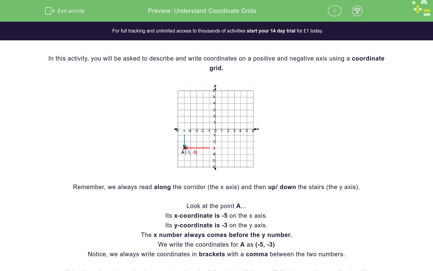 Understand Coordinate Grids Worksheet