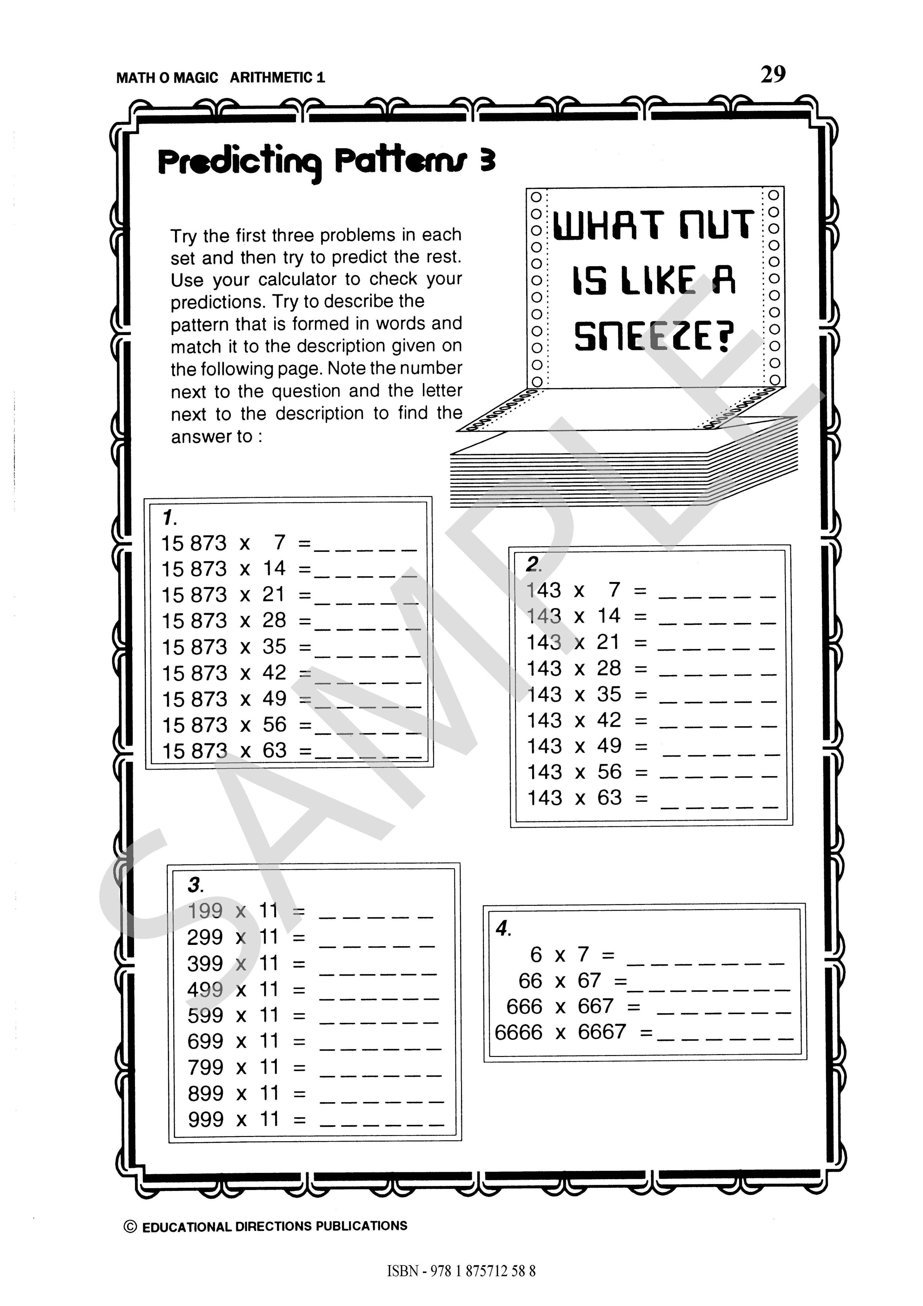 Math O Magic Arithmetic 1 Ed Publications