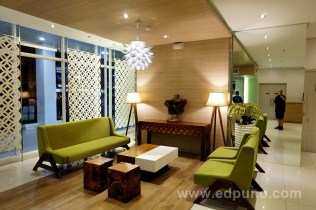 Modern feel at Injap's lobby