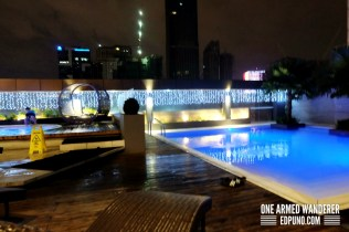 One of the 3 pools in F1 Hotel