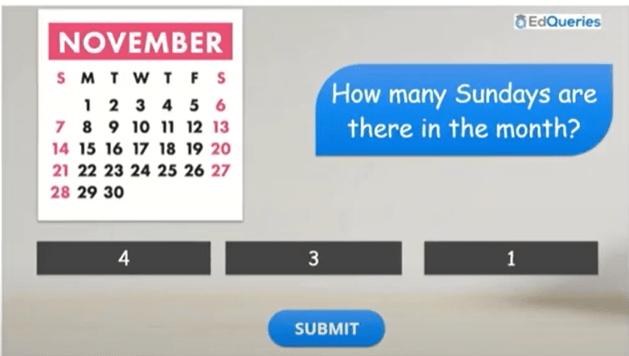 Featured image of the Calendar quiz lesson