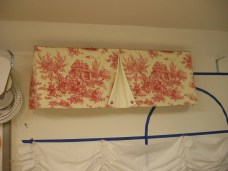Valance with decorative overlay 10