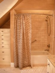 lined shower curtain