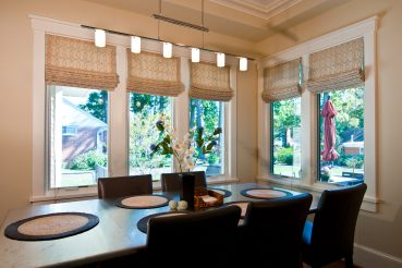 Lined roman shades for modern homes