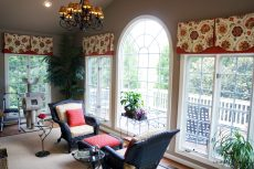 Valances with decorative overlay 04