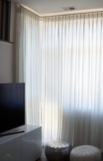 Pinch pleated sheers 11