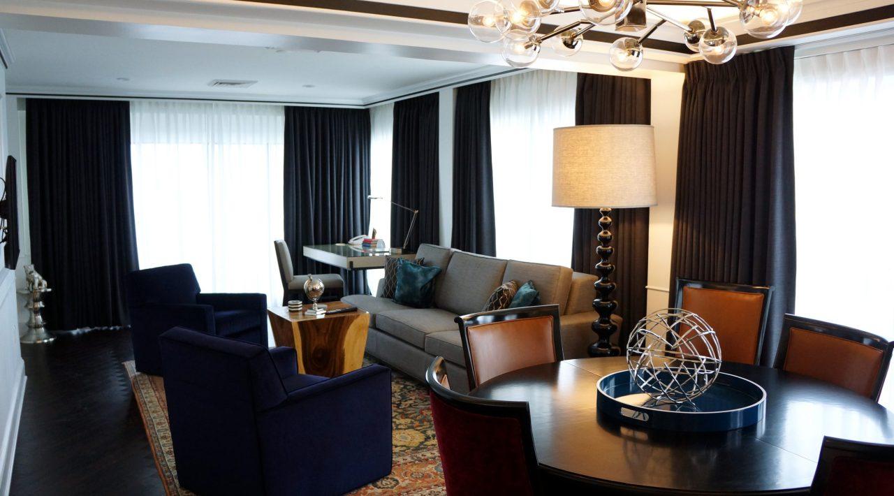 Living Room black panels with room darkening option