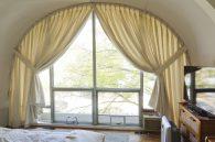Custom arch window panels