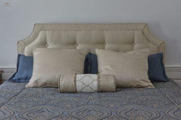 Custom bedding with headboard 01