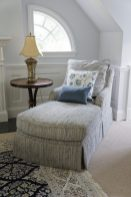 Custom upholstered armchair and ottoman 02