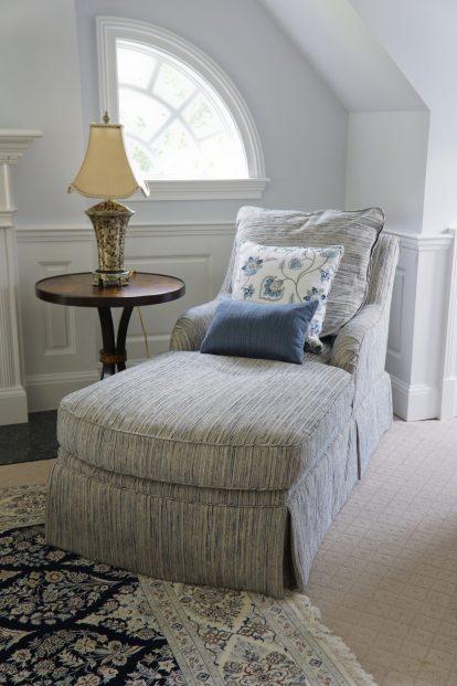 Custom upholstered armchair and ottoman 02