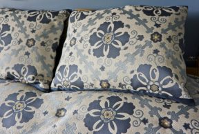 accent pillow sham matching the custom made coverlet