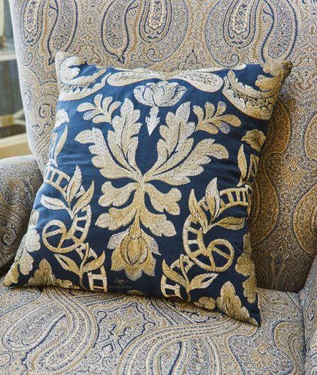Accent pillow from left over fabric