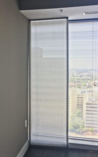 Lined sheer shades as side panels