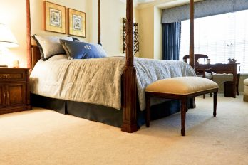 Customized bedding for a Master Bedroom