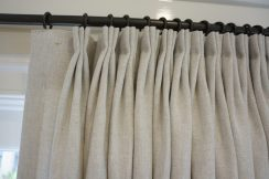 100% Linen panels with soft pleats
