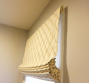 Flat Roman Shades with side returns