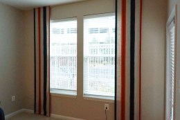 Flat panels with sheer lining