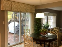 we changed the valances slightly for shaped windows.