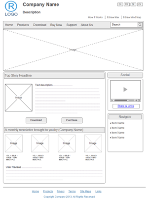 Wireframe Examples  Site Design