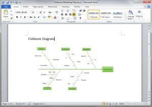 Fishbone Diagram Templates for Word