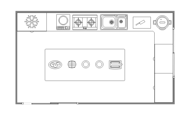 Free Simple Kitchen Layout Templates