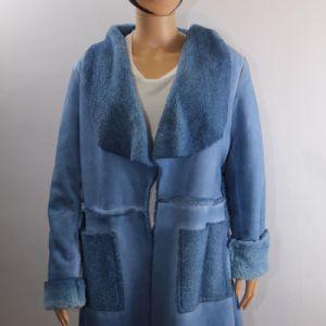 manteau fourré bleu e dressing des copines