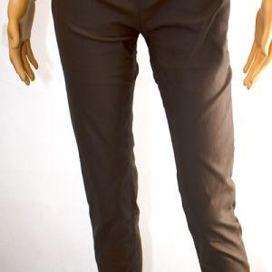 pantalon marron effet huilé e dressing des copines