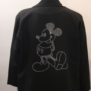 blazer noir mickey e dressing des copines