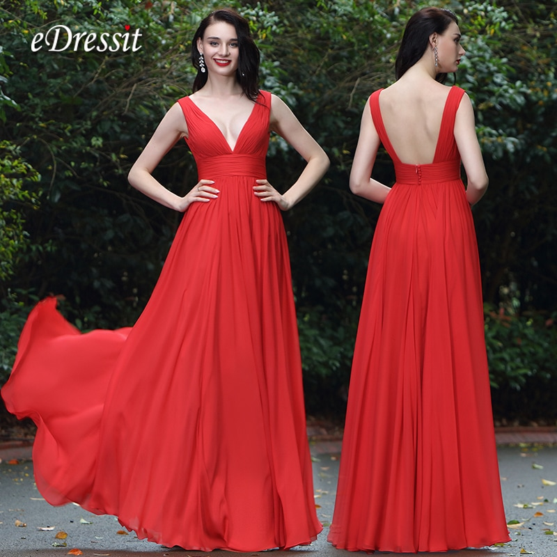 1c25d6c75a This eDressit bridesmaid dress is sure to make a statement this wedding  season. Arriving in a striking red shade, it's crafted from lustrous  chiffon with ...