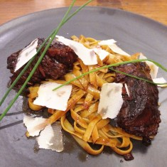 Beef Cheek Pasta (S$24.90) - Tagliatelle Pasta topped with tender Beef Cheek and fused with Balsamic Vinegar, Thyme and Rosemary Herbs. Deliciously decadent!