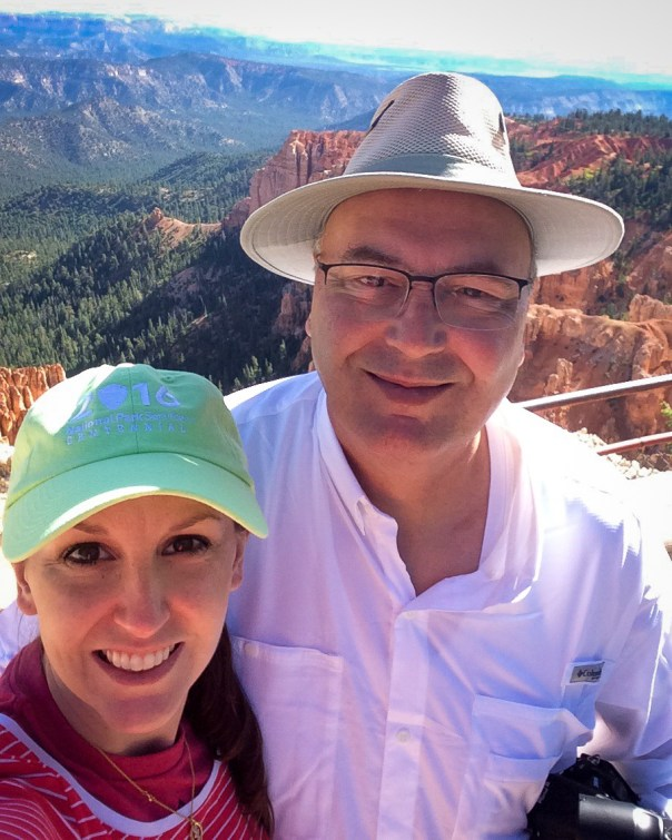 MK and Ed at Rainbow Point, Bryce Canyon