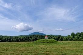 Nacoochee Cherokee Indian ceremonial mound, just outside Helen, Georgia