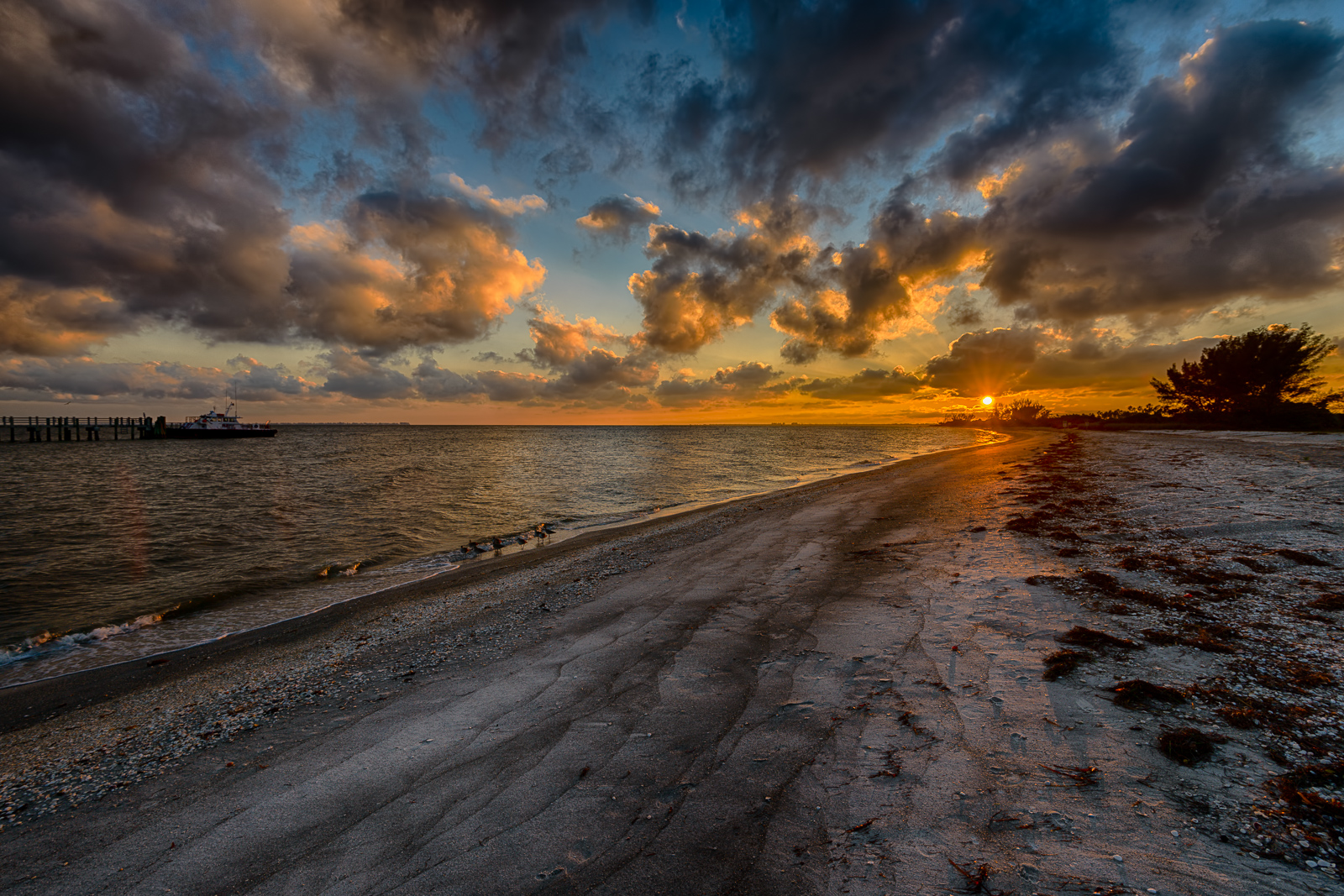 The end of the day at Fort De Soto