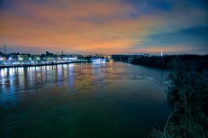 The Potomac River, Georgetown, and Washington DC