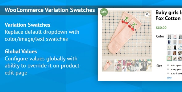 Preview screenshots of WooCommerce Variation Swatches Images