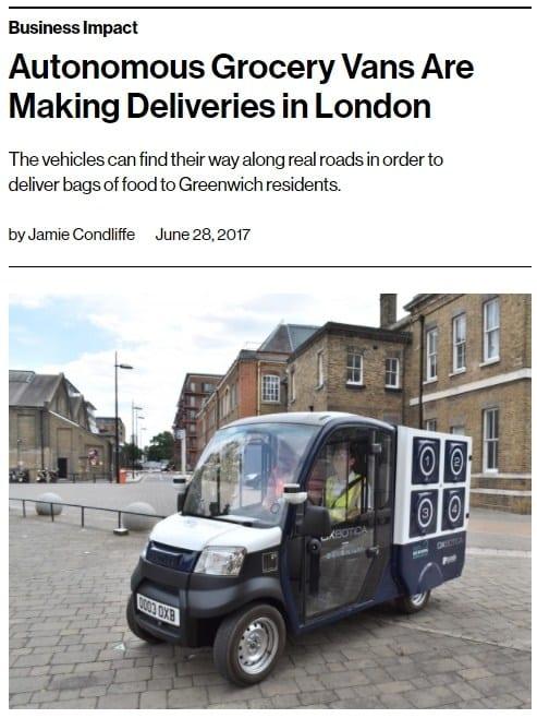 Autonomous vehicle delivery