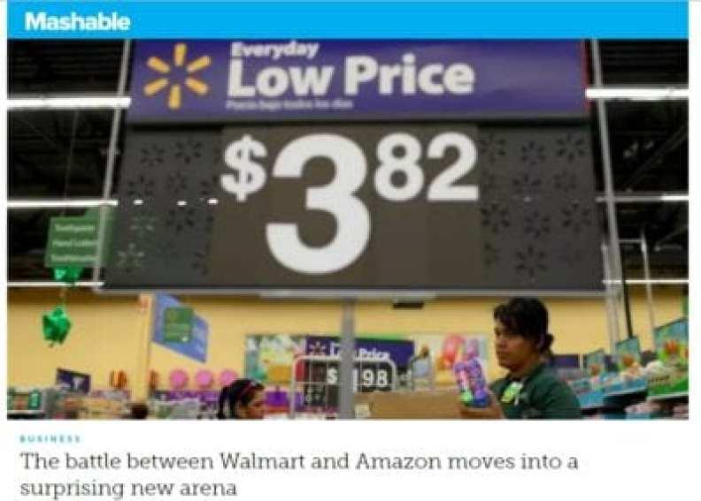 battle between Walmart and Amazon