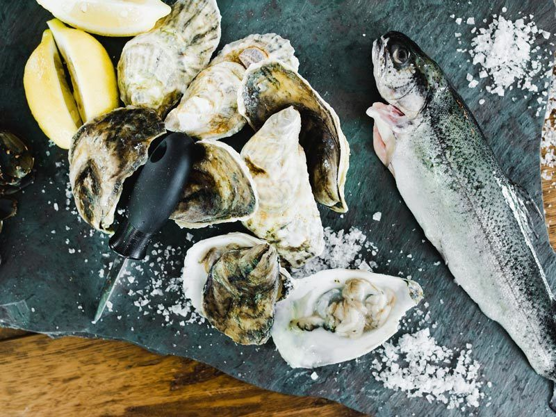 Dining at Edson Hill - Oysters & Fish