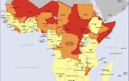 Africa security map image